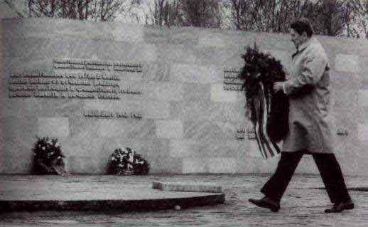 Image result for ronald reagan 1985 at bitburg cemetery