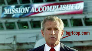 Bush at Mission accomplished speech