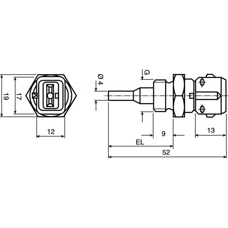 BM15.001 Capteur de Température d'eau pour moteurs M.A.N