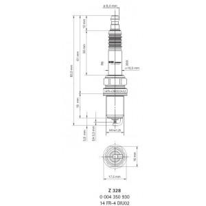 14FR-4DIU02 Lot de 4 bougies d'allumage BERU®- Z328