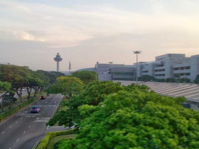Changi Airport am Morgen