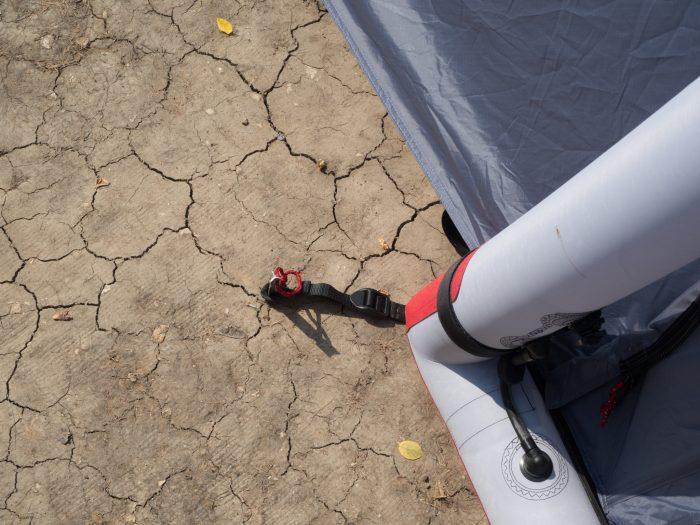 Stabile Heringe halten das Zelt am Boden