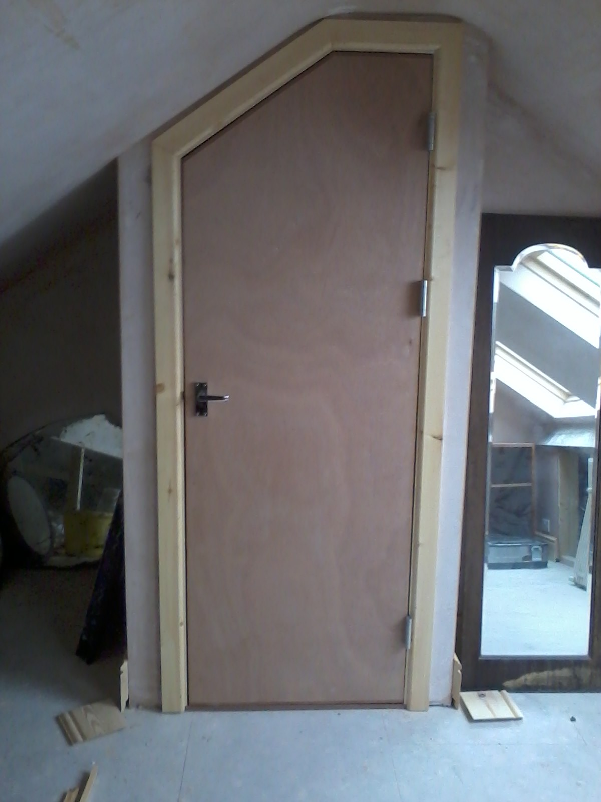 Angled fire door  Bartlett Joinery And Carpentry