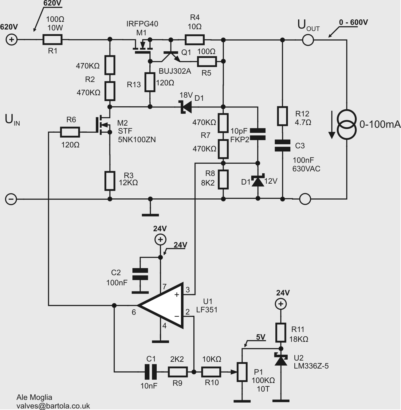 Tube Curve Tracer Bartola Valves Adaptor Circuit Schematic A