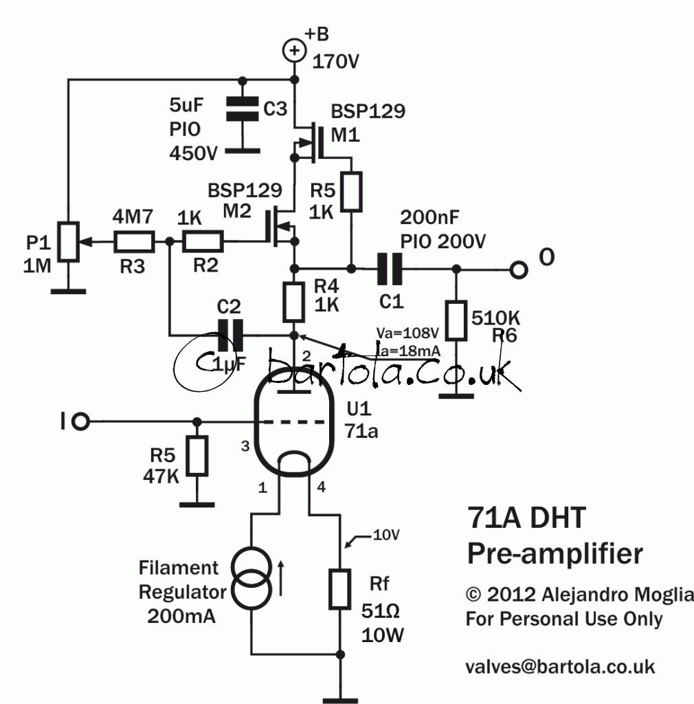 71a DHT pre-amplifier