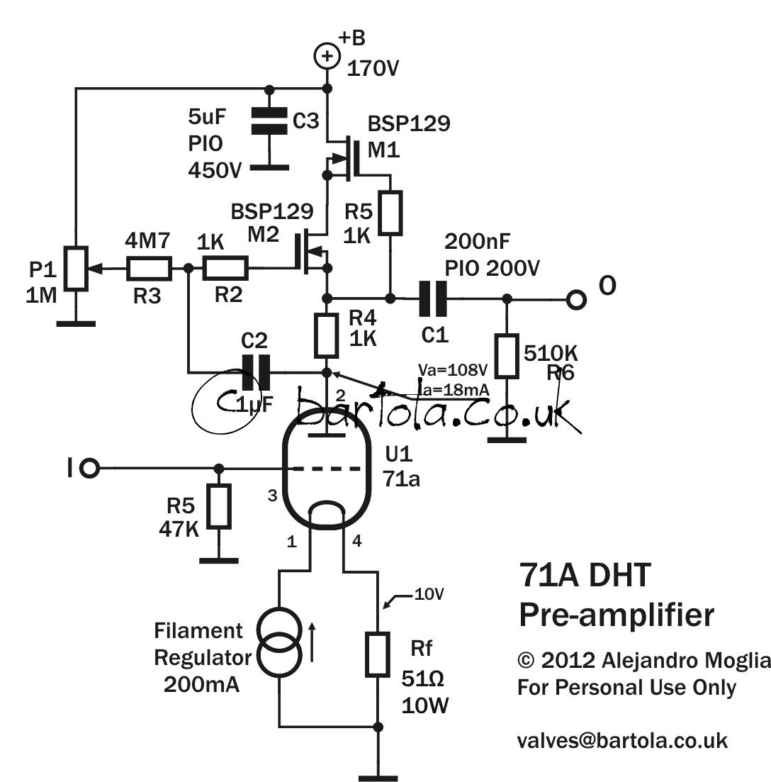 71a Dht Pre Amplifier Bartola Valves
