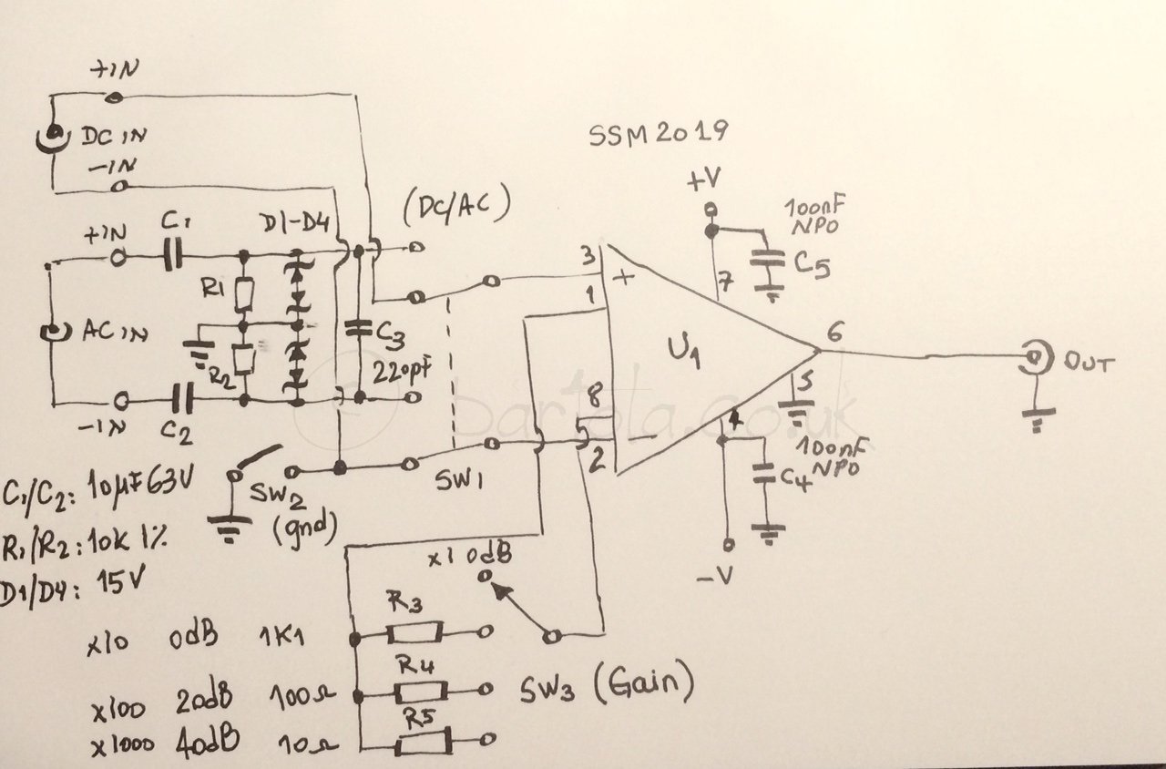 Differential Buffer And Preamp Bartola Valves Circuit Ssm2019