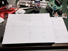 Planning the layout before drilling
