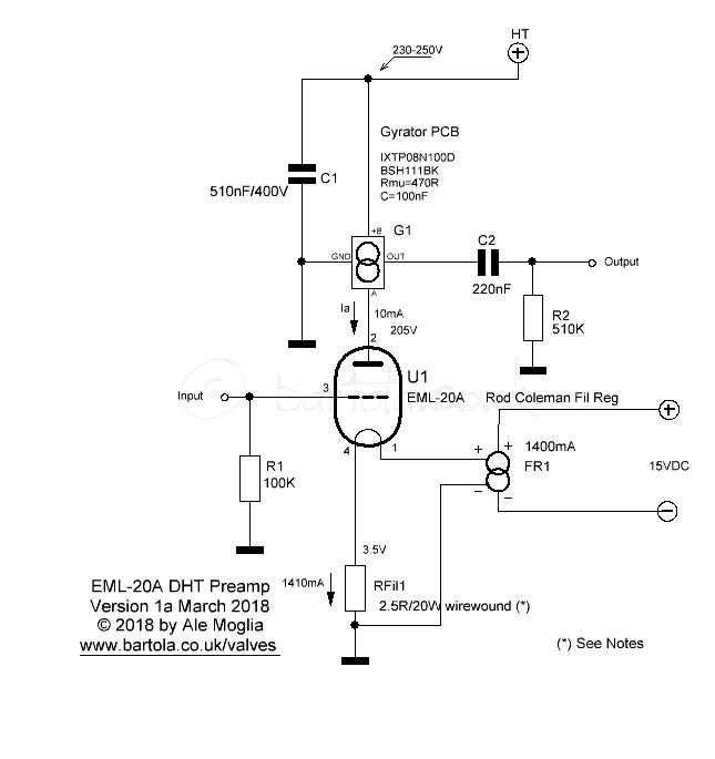EML-20A DHT Preamp | Bartola® Valves