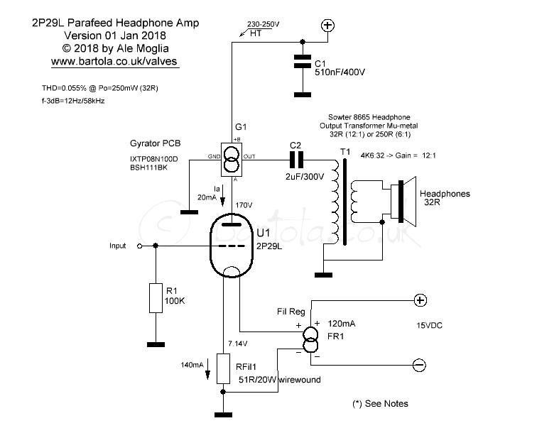 2P29L Headphone Amp – Bartola® Valves