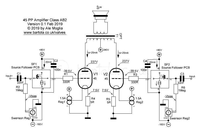 45 Push-Pull Amplifier