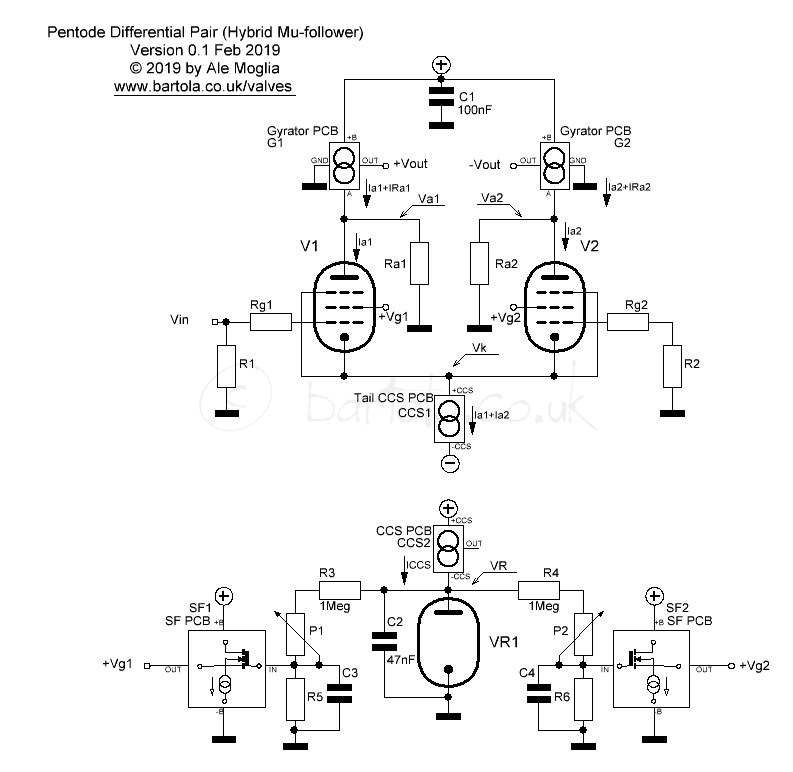Pentode Differential Pair (Hybrid Mu-follower) - Bartola ...