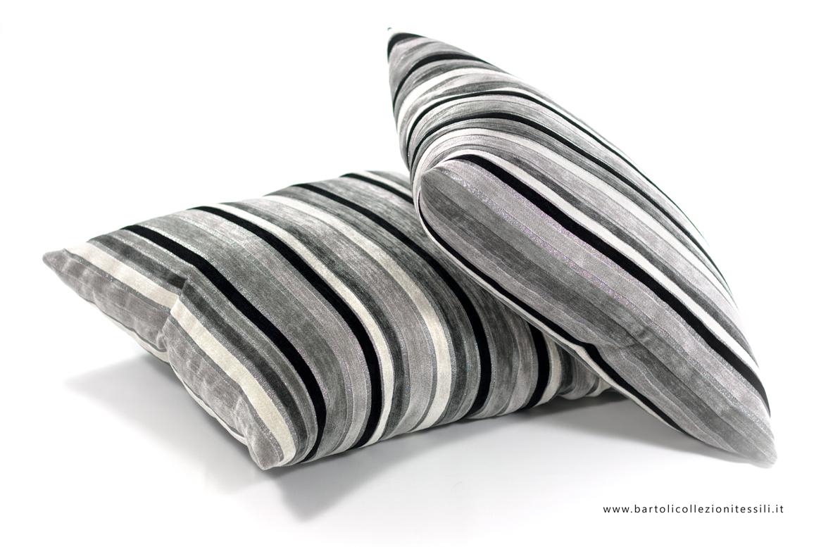 Biancheria per il soggiorno cuscini darredo in tessuto rigato