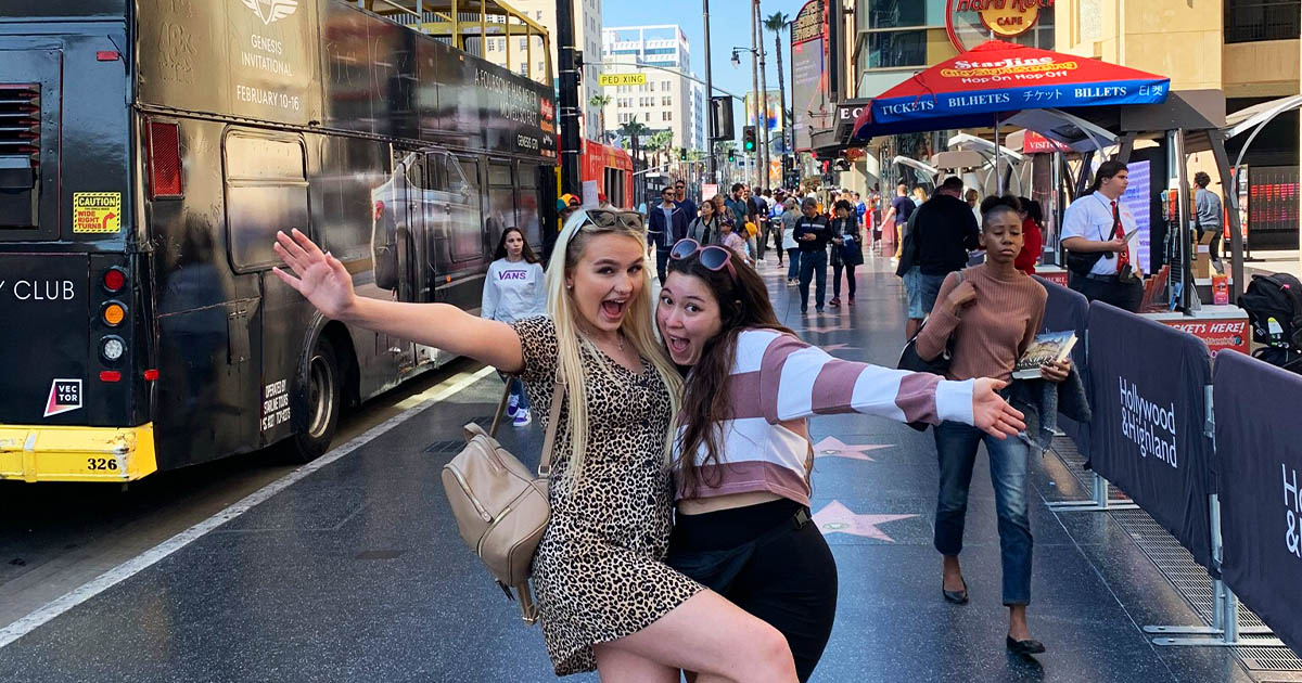 Barton Peveril Students on the Hollywood Walk of Fame