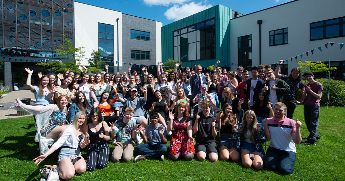 Barton Peveril Sixth Form College Students Celebrate Results