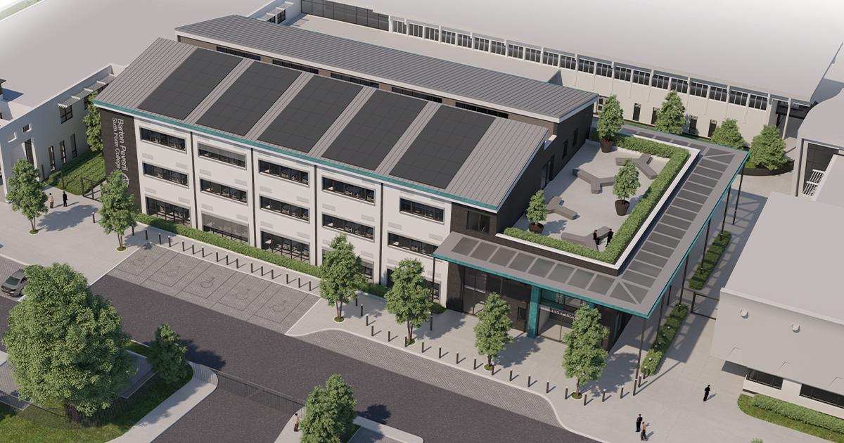 Barton Peveril Sixth Form College's new development, The Business School