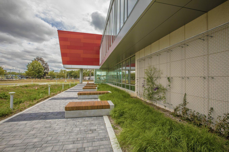 Holland Energy Plant exterior walking path