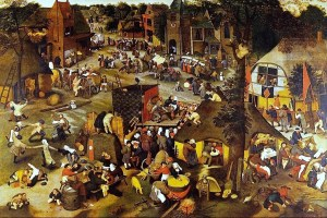 1500s-Brueghel-Pieter-the-younger-Flemish-artist-c.1564-1637-8-Village-Fair-Festival