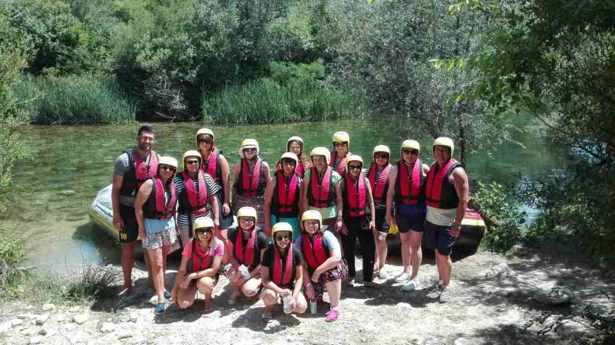 Team building: rafting, Cetina