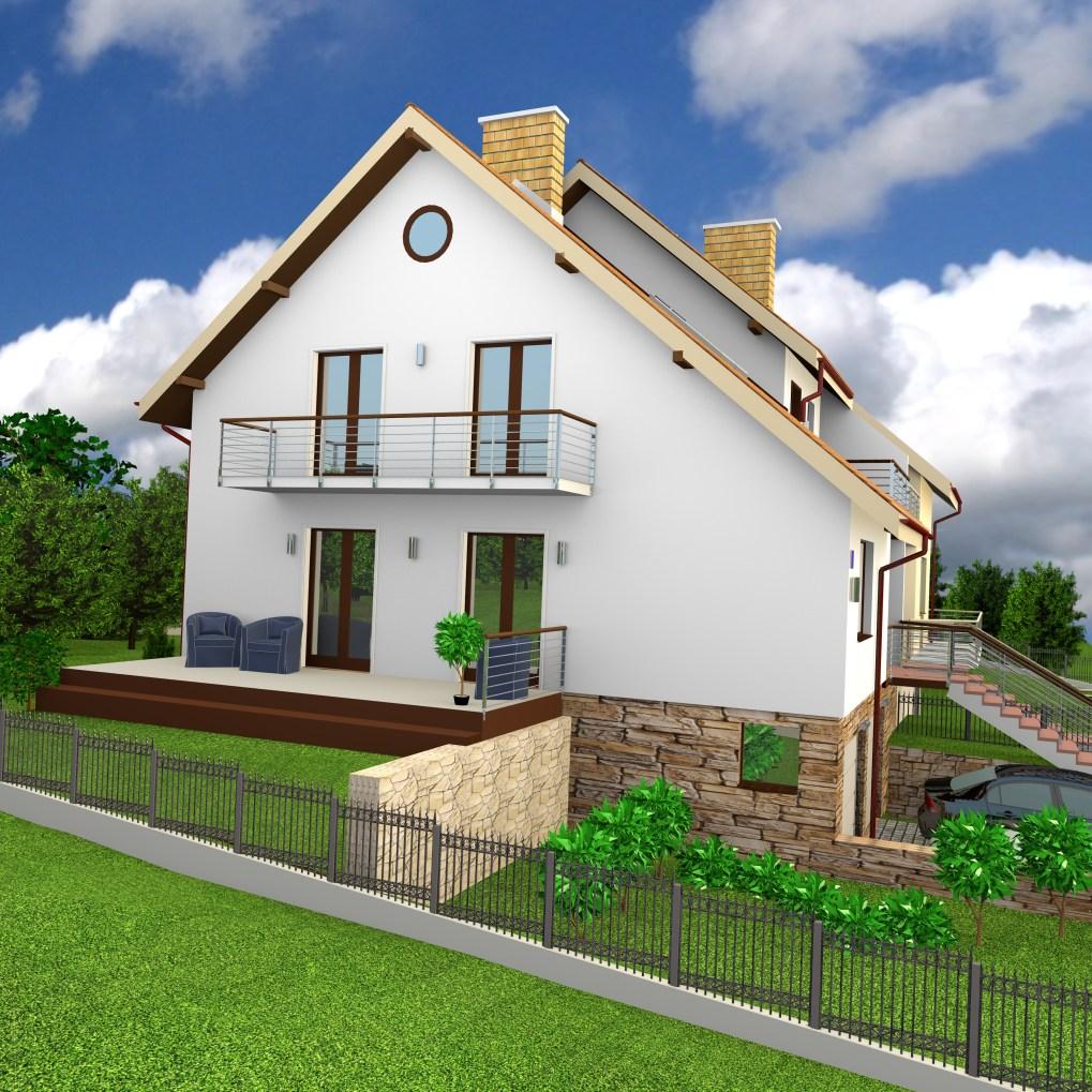 Wizualizacja domku