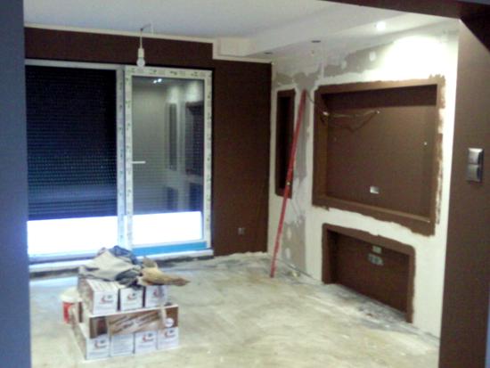 salon ze ścianką tv