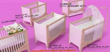 projekt wielowariantowego łóżeczka dla noworodka