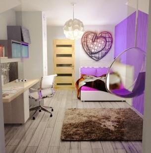 projekt i wizualizacja pokoju dziecka, farba pisakowa w pokoju, farba tablicowa w pokoju dziecka