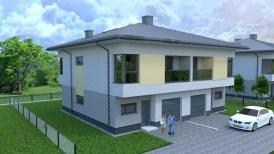 wizualizacja domu w zabudowie bliźniaczej