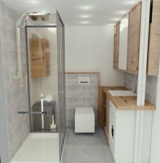 wizualizacja projektu małej łazienki w mieszkaniu