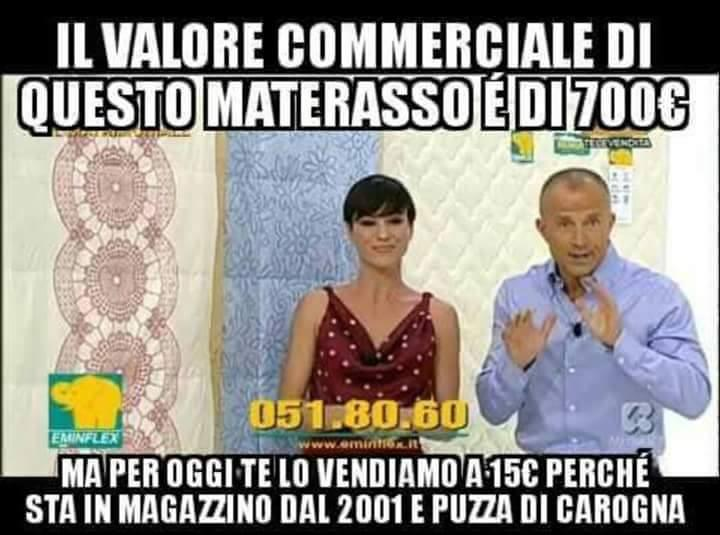 Barzellettenet Foto Televendita dei materassi con