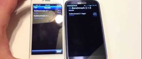iPhone 5 vs. Samsung Galaxy S3 Benchmarks Only Review by CHRISVOSS
