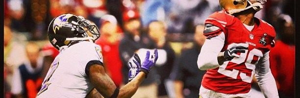 Heads up! Jacoby Jones Touchdown! #BALvsSF #SB47 #Ravens