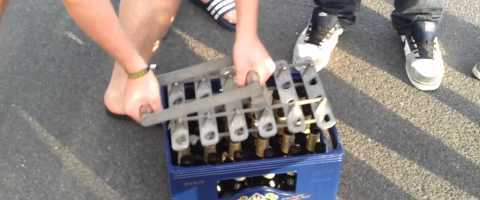 Opening a Case of Beer Like a Boss (Sweet Bottle Opener) by stopstopitstoofunny