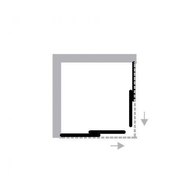 Evolution Forte box doccia angolo 80x120  Barzotti