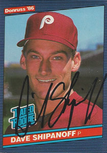 Dave Shipanoff Autograph on a 1986 Donruss (#34)