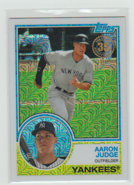 Aaron Judge 2018 Topps Chrome 1983 Promo Baseball Cards Of