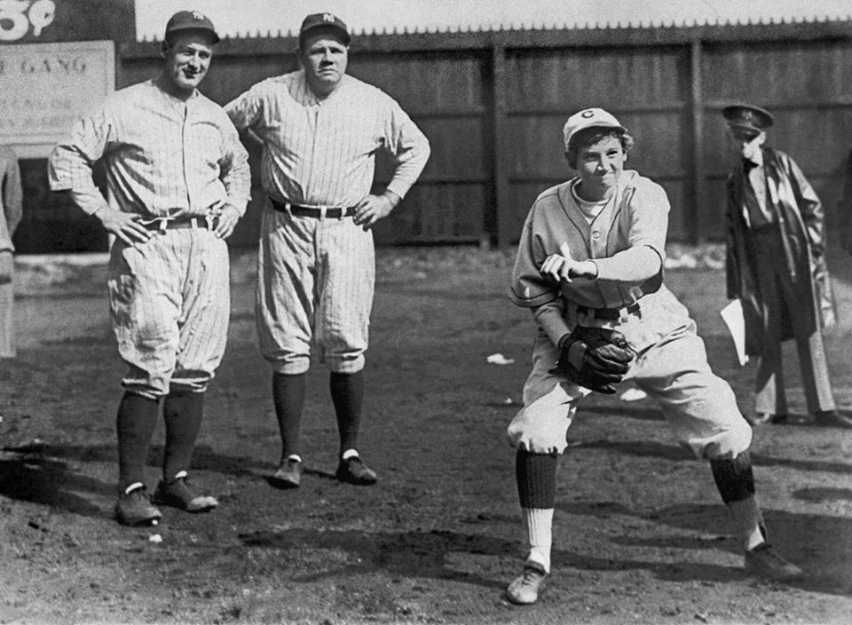 Jackie Mitchell Strikes Out Babe Ruth and Lou Gehrig!