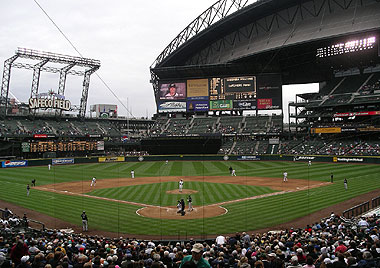 Behind home plate at Safeco Field