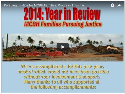 Pursuing Justice for MCBH Families - Progress Thus Far