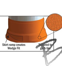 plasticade commander traffic drum low density 4 4 hip sheeting [ 1000 x 1000 Pixel ]