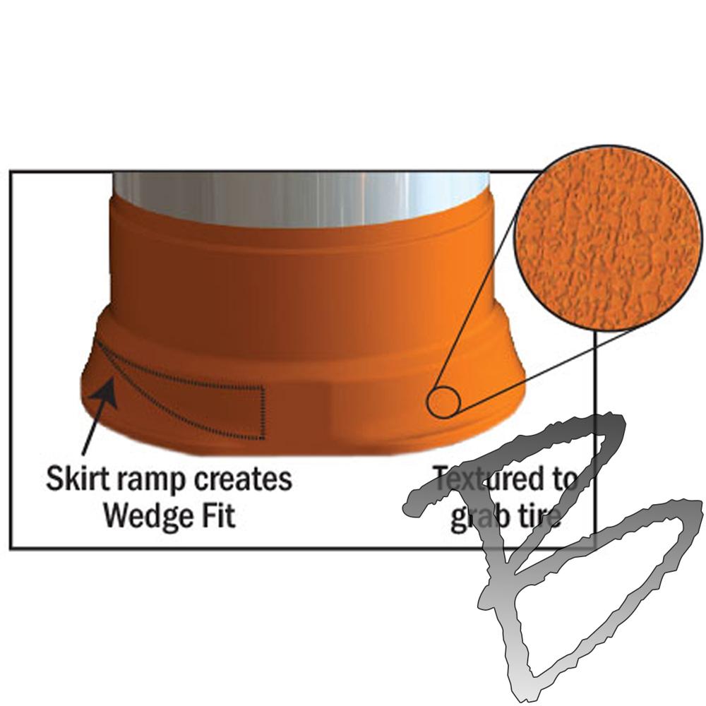 medium resolution of plasticade commander traffic drum low density 4 4 hip sheeting