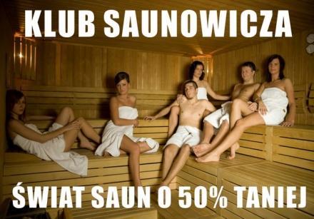 Klub saunowicza - zniżki dla miłośników saun.