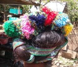 Grote pompoenen in het haar