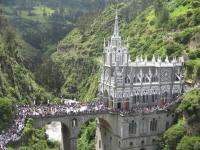 De gotische kerk in Las Lajas