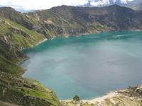 Keifelle kleuren van Laguna Quitlotoa