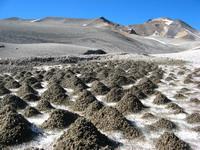 Glacier with sand dunes