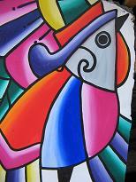 Muurschilderingen in de stijl van Fernando Llort
