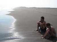 Het strand van El Salvador