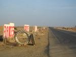 Woestijn aan de kust van Peru