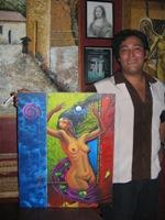 Milton met ons schilderij